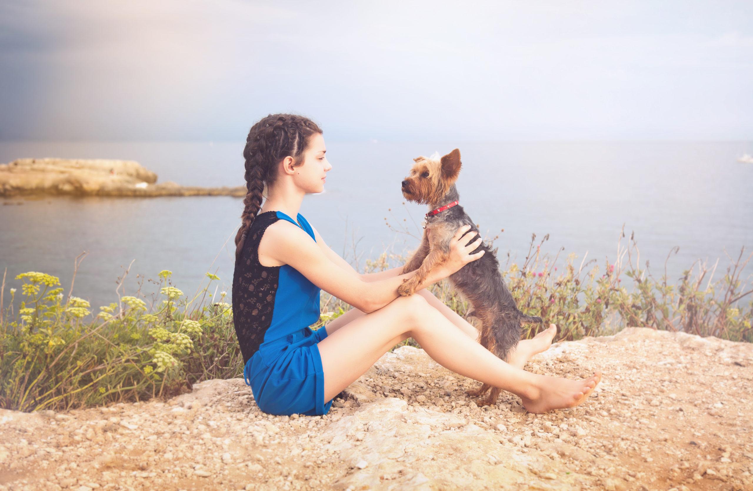 Photographe animal de compagnie, portrait duo, chien